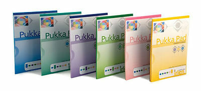 Pukka Coloured Lined Ruled Writing Dyslexia Irlen Notepad Pads Margin 100 Pages