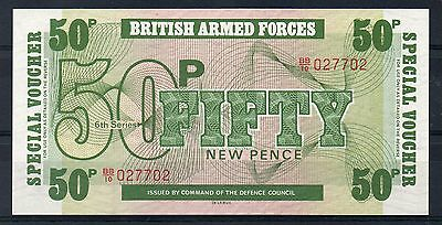 BRITISH ARMED FORCES. 50p Banknote. Pristine. (12/16)