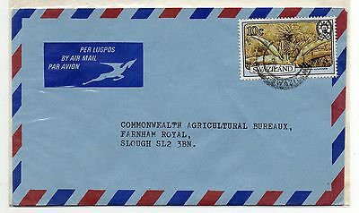 SWAZILAND = 1980 Airmail Cover to SLOUGH, UK.
