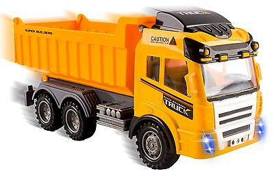 RC Dump Truck Toy Construction Truck Remote Control Truck 4CH Function Christmas