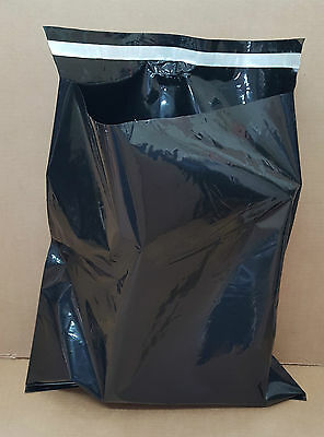 """Black Mailing Bags Plastic Poly Postage Post Packing Strong Self Seal 18"""" x 22"""""""