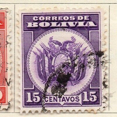 Bolivia 1933 Early Issue Fine Used 15c. 113785
