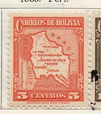 Bolivia 1935 Early Issue Fine Mint Hinged 5c. 113789