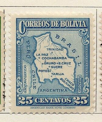 Bolivia 1935 Early Issue Fine Mint Hinged 25c. 113794