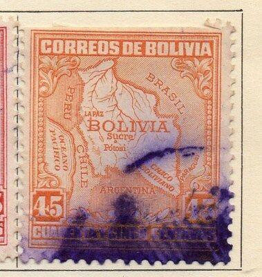 Bolivia 1930 Early Issue Fine Used 45c. 113806
