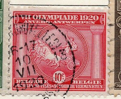 Belgium 1920 Early Issue Fine Used 10c. 114979