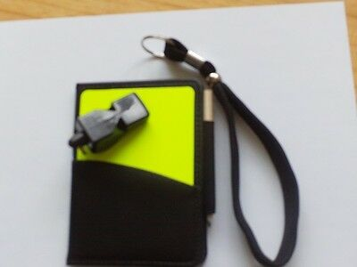 Quality Refs  Wallet With Adj  Wristband + Fox 40 Classic Whistle