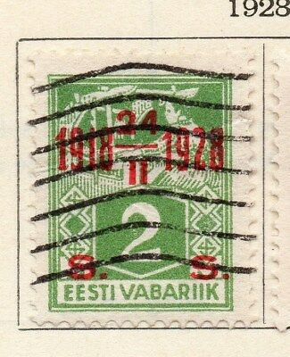 Estonia 1928 Early Issue Fine Used 2s. Surcharged Optd 114125