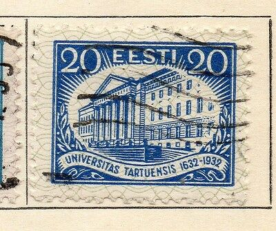 Estonia 1932 Early Issue Fine Used 20s. 114147