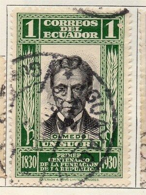 Ecuador 1930 Early Issue Fine Used 1s. 114174