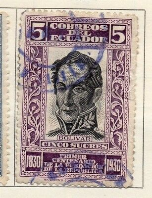 Ecuador 1930 Early Issue Fine Used 5s. 114176