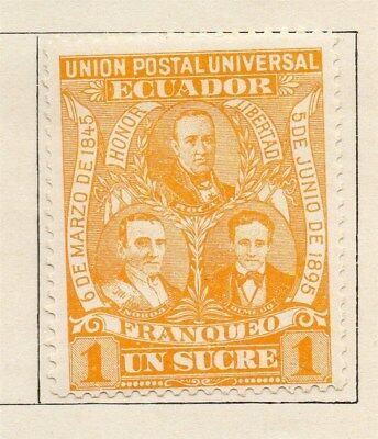 Ecuador 1895 Early Issue Fine Mint Hinged 1s. 114196