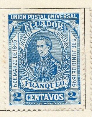 Ecuador 1895 Early Issue Fine Mint Hinged 2c. 114197