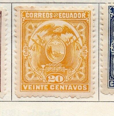 Ecuador 1897 Early Issue Fine Mint Hinged 20c. 114212