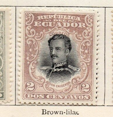 Ecuador 1899 Early Issue Fine Mint Hinged 2c. 114217