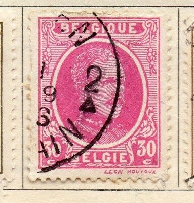 Belgium 1924-27 Early Issue Fine Used 30c. 114320