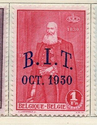 Belgium 1930 Early Issue Fine Mint Hinged 1F. Optd 114399