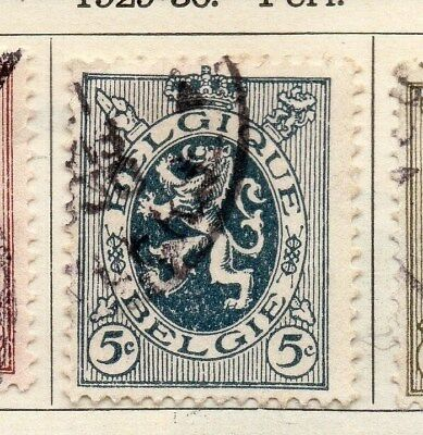 Belgium 1929-30 Early Issue Fine Used 5c. 114439