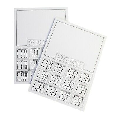 20 X 2018 Calendar A4 blanks White Mini Calender Year To View / Make Your Own
