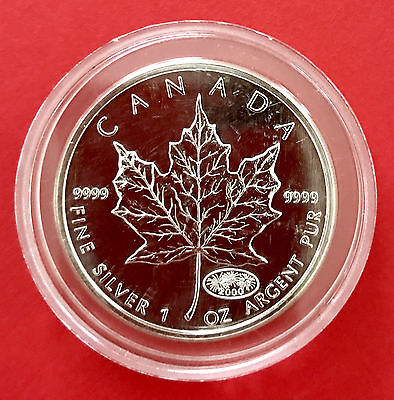 2000 Canada 1oz .9999 Silver Maple Leaf Sealed RCM 1 oz - Fireworks Privy