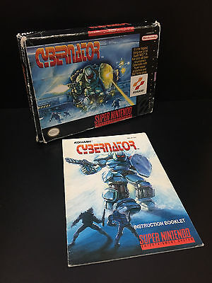Cybernator Super Nintendo Box and Manual ONLY - No Game -
