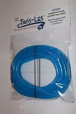 Twis-Les Electrical Cord Cover & Detangler - BLUE