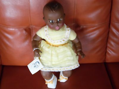"Cute Gerber African American Baby Doll in a Yellow Outfit (17"" Tall)"
