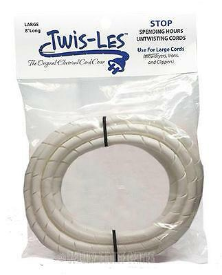Twis-Les Electrical Cord Cover & Detangler - WHITE