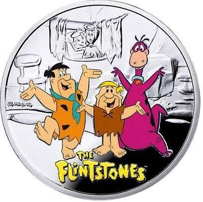 Niue 2014 $1 Cartoon Characters The FLINTSTONES Proof Silver Coin LIMITED!!!