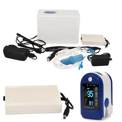 Portable Oxygen Concentrator Generator Machine Home care Car Travel + Battery