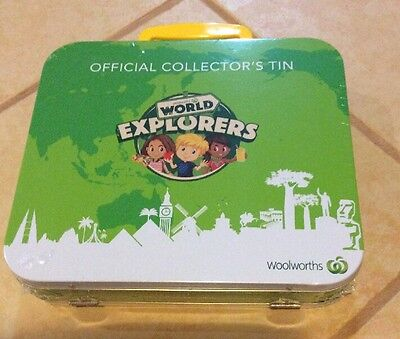 Brand New Official Woolworths World Explorers Collector's Tin Unopened