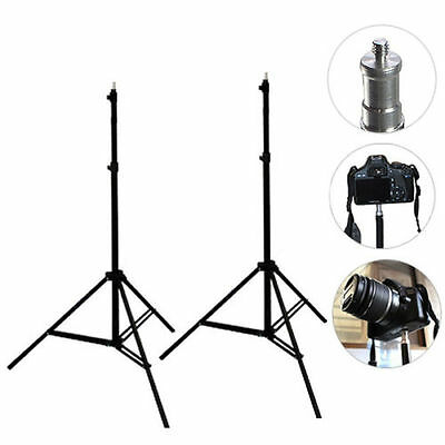 2x 2.1M Pro Photo Photography Studio Light Stand Tripod Video Lighting Stand Kit