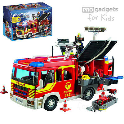Genuine PLAYMOBIL City Action Fire Engine with Lights & Sound Set for age 5+