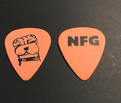 New Found Glory - Steve Klein 'Dog' Tour Guitar Pick Orange & Black