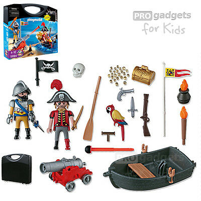 Genuine PLAYMOBIL Pirates Carrying Case Playset for age 4+