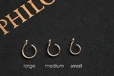 HANDMADE Fake Nose Ring - ALL SIZES - No Piercing, Gold, Silver, Rose Gold