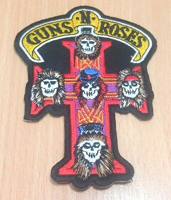 New Guns N Roses Music Rock Logo Symbol Embroidered Iron On Patch Shirt Po333