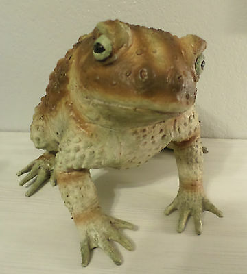 GIANT LATEX RUBBER TOAD FROG w/ WARTS HALLOWEEN REALISTIC PROPS HOME DECOR NEW