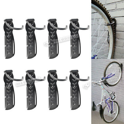 2/4/8 X Wall Mounted Mountable Cycle Storage Hook Bike Rack Space Saving Stand