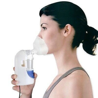 Ultrasonic Inhaler Portable Nebulizer Personal Steam Mist Healthy Asthma Therapy