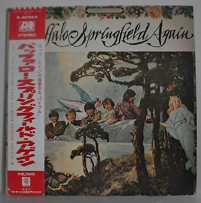 Buffalo Springfield Again Japan LP 1971 P-8054A Insert Obi Neil Young