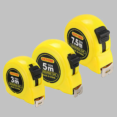 Retractable Metric/ Feet/ Inches 10'/ 16'/ 25' Measuring Tape Measure Home Tool