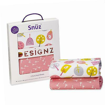 Snuz Crib Fitted Sheets - Little Tweets Bird Print for SnuzPod & Chicco Next2Me