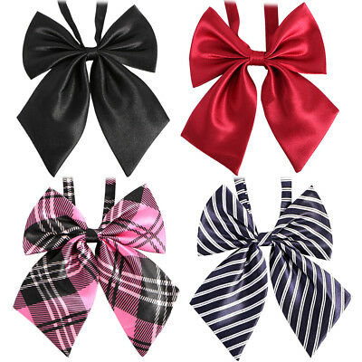 kilofly Women Pre-Tied Ruffled Bowtie Large Ribbon Neck Ties Ladies Pattern