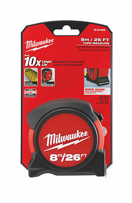 Milwaukee 48-22-5625 8M/26Ft Metric & Imperial Contract Tape Measure