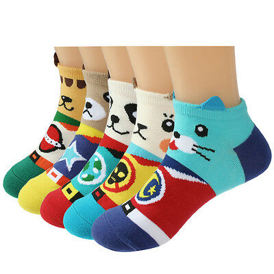 KF Baby Boys Super Hero Animals Cozy Socks Pairs Infants Toddlers Shoes Booties
