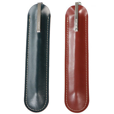 kilofly Genuine Leather Sleeve Slim Protective Pouch Pen Holder Case Wrap School