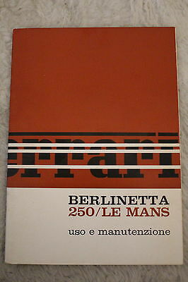 Original Ferrari 250 Le Mans Handbook Manual