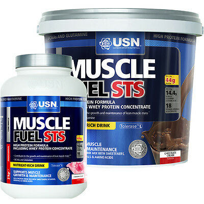 USN Muscle Fuel STS High Protein Meal Replacement Powder Shake 2kg/5kg
