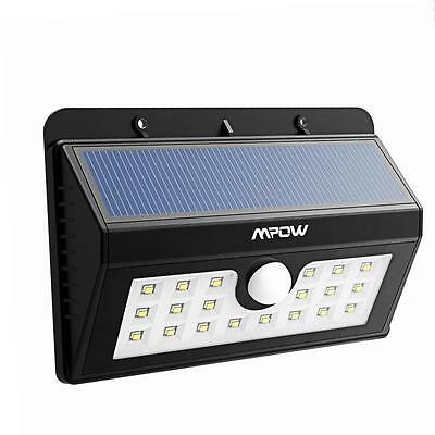 Mpow 3-in-1 LED Wireless Weatherproof Security Solar Lights with 20 Bright Nodes